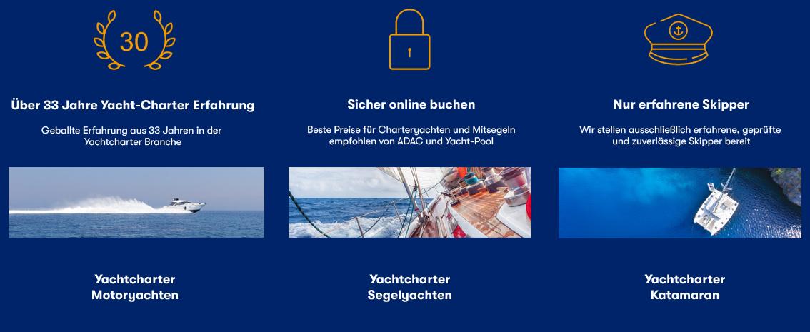 Segelreise Premium Segelyacht Dalmatien ab Split oder Trogir Kroatien