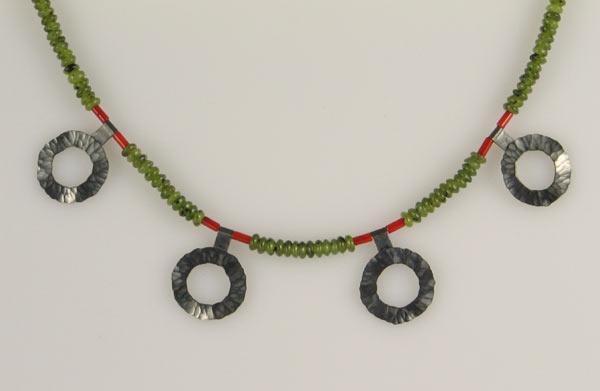 Oxidiertes Silber Jade, Bambuskoralle