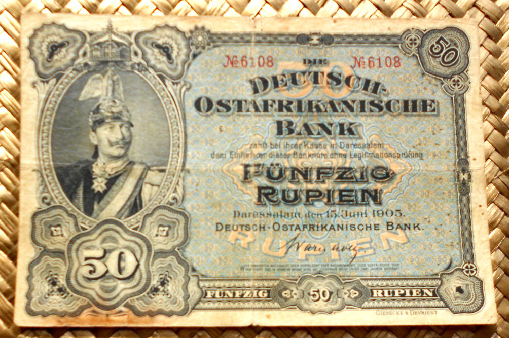 German East Africa 50 rupias 1905 anverso