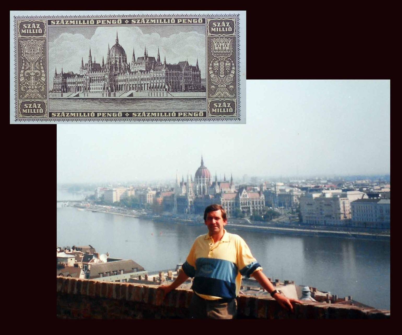 100000000 pengo Hungria desde el Palacio Imperial de Budapest