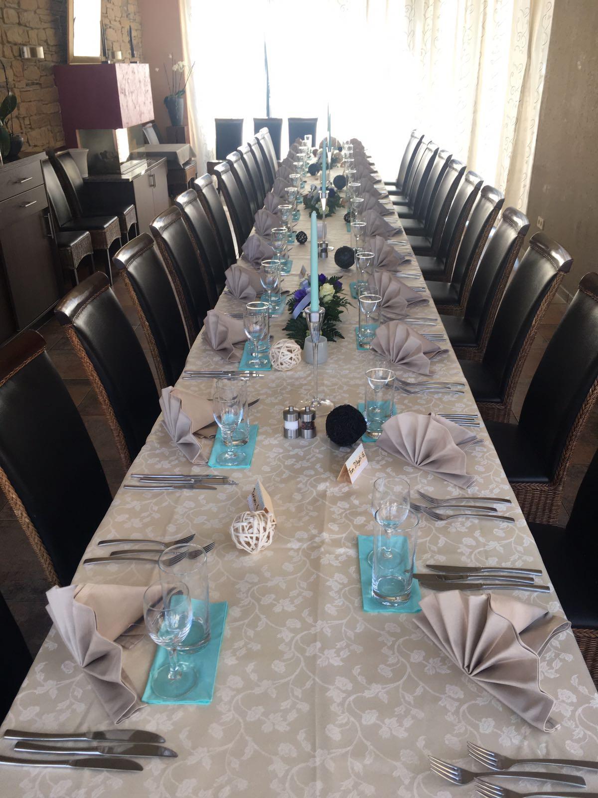Gedeckter Tisch für Feiern im Ristorante Da Angelo & Salvatore