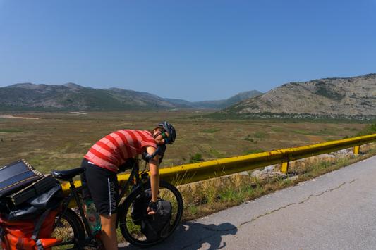 Am Ende der Kräfte am Ciro Trail.