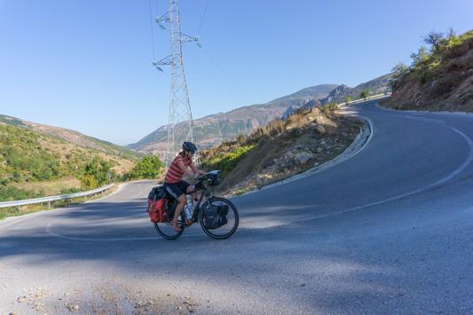 Steil, steiler, Albanien.
