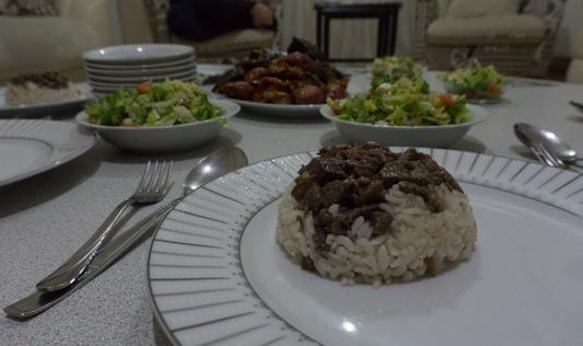 Pilav - Reis mit gekochtem Fleisch. Mmmmhhh!
