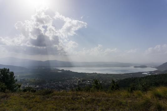 Blick auf den See.