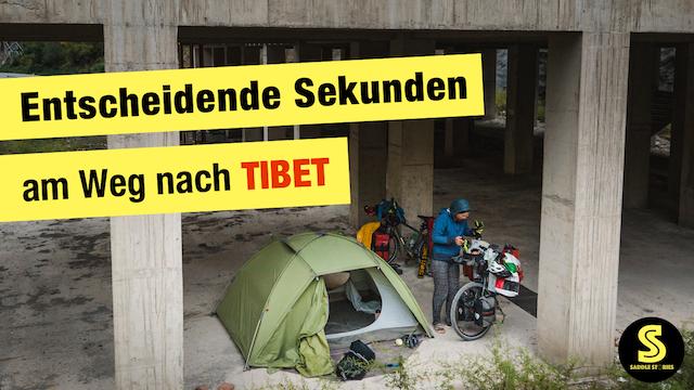 VIDEO Radreise in China - Entscheidende Sekunden am Weg nach Tibet | Ep.26