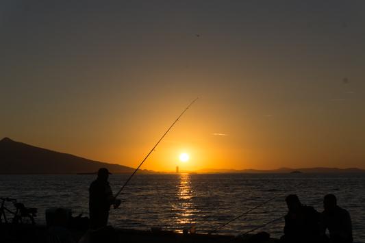 Sonnenuntergangsstimmung in Izmir.