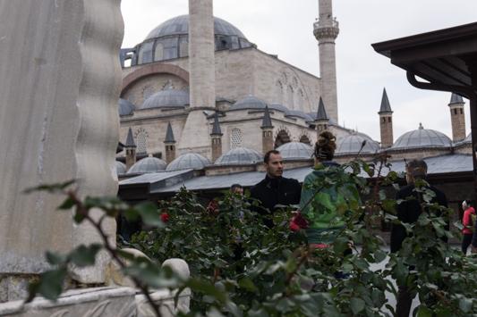 Die berühmte Mevlana Moschee in Konya.