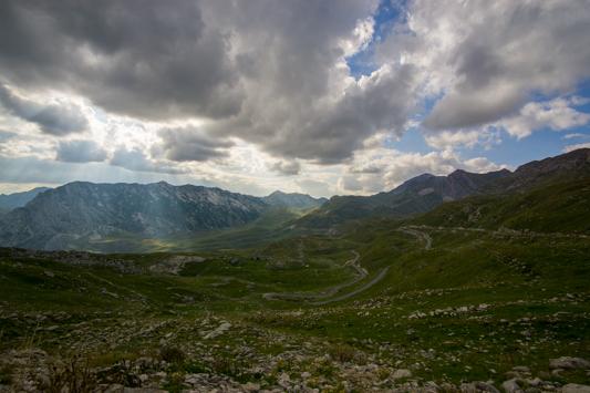 Mit der Wolkenstimmung zeigt sich der Durmitor National Park von seiner schönsten Seite.
