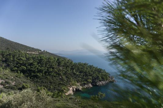Der erste Blick auf die Ägäisküste!