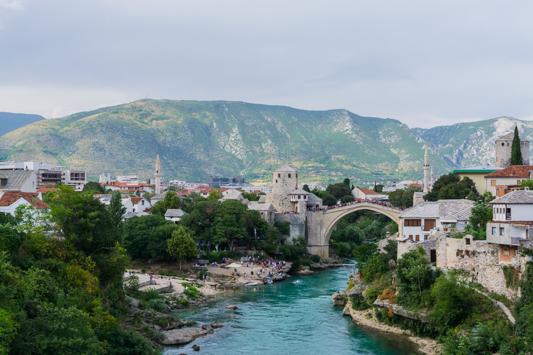 Mostar! Wunderschön, aber sehr überlaufen.