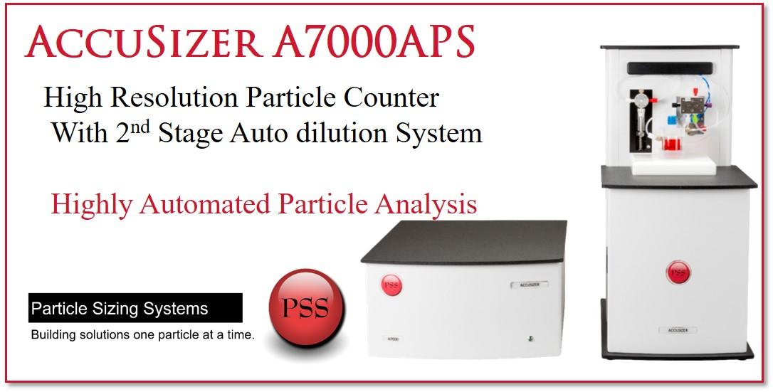 個数カウント 粒度分布 二段階自動希釈 A7000 APS