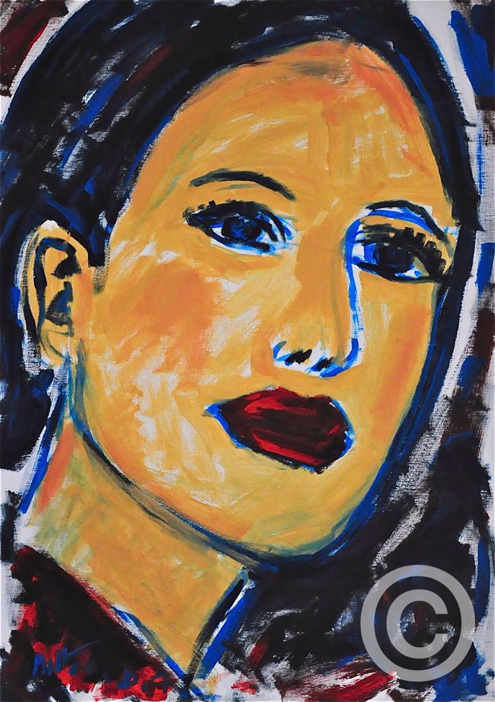 Lisa/ Acryl auf Leinwand/ 50 cm x 70 cm