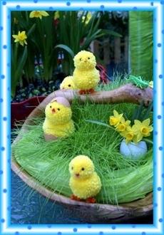 Семейка цыплят к Пасхе