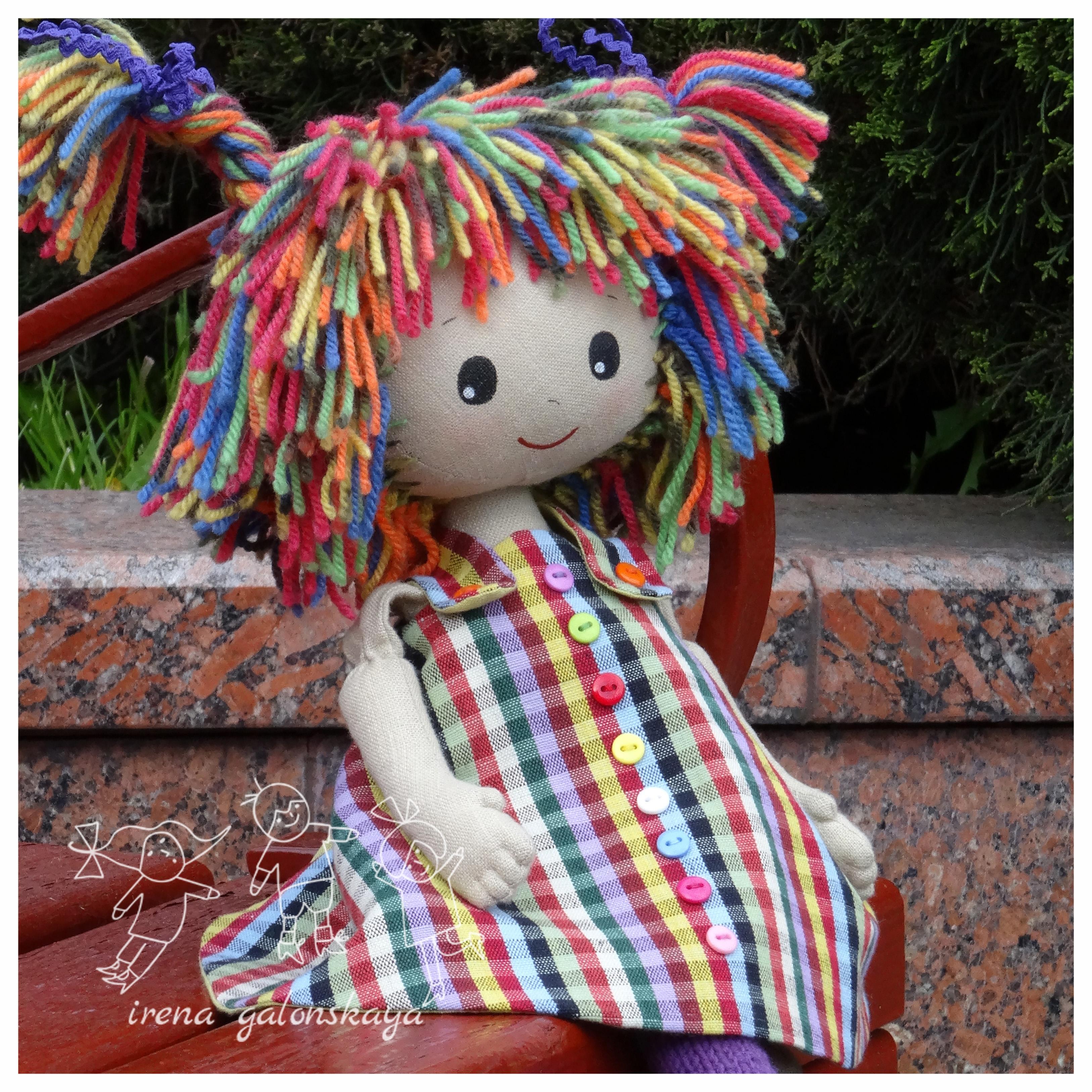 Текстильная кукла Майка