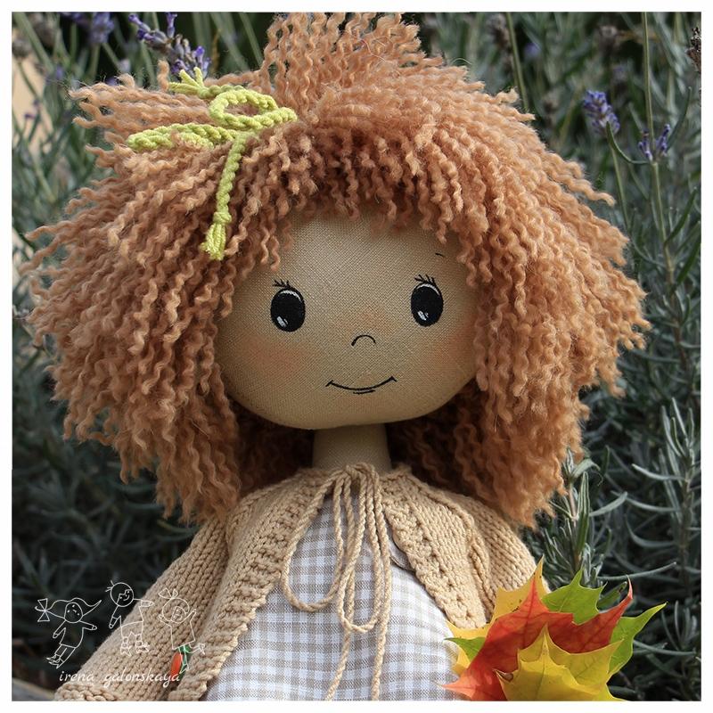 текстильная кукла Ася