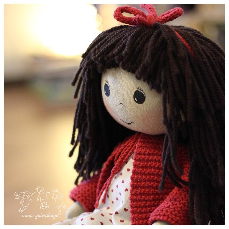 Текстильная кукла Полечка