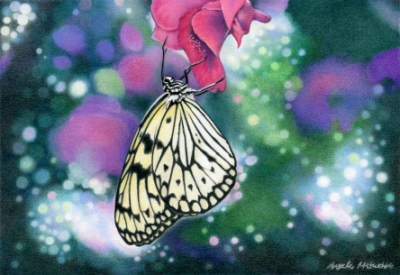 """""""Nectar"""" - colored pencil - 2018 - published in CP Treasures VI, Colored Pencil Masterworks From Around The World 2019"""