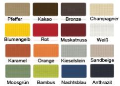 Gittermaterial - Sonnensegel - Farbpalette