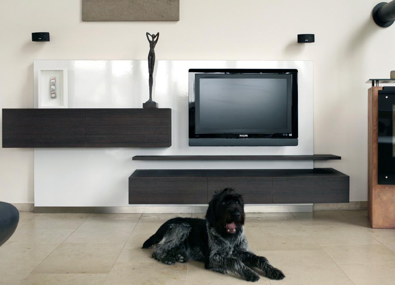 Moderne Wohnwand - Schreinerei - Holzdesign Rapp Geisingen