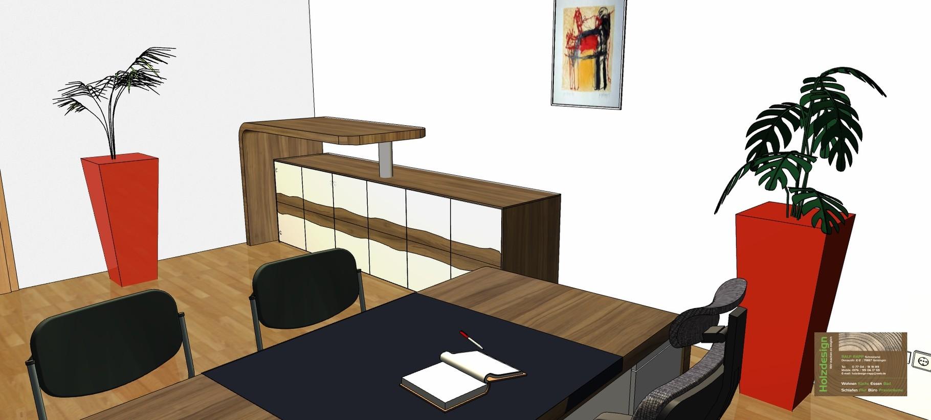 Planung Büroeinrichtung Abbildung Sideboard