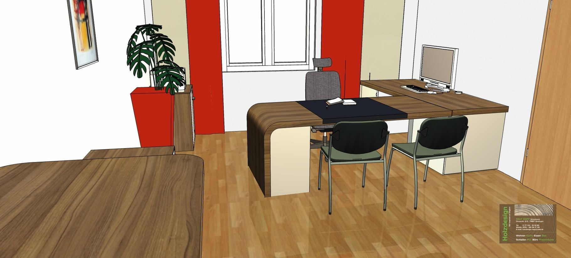 Planung Büroeinrichtung Abbildung Schreibtisch