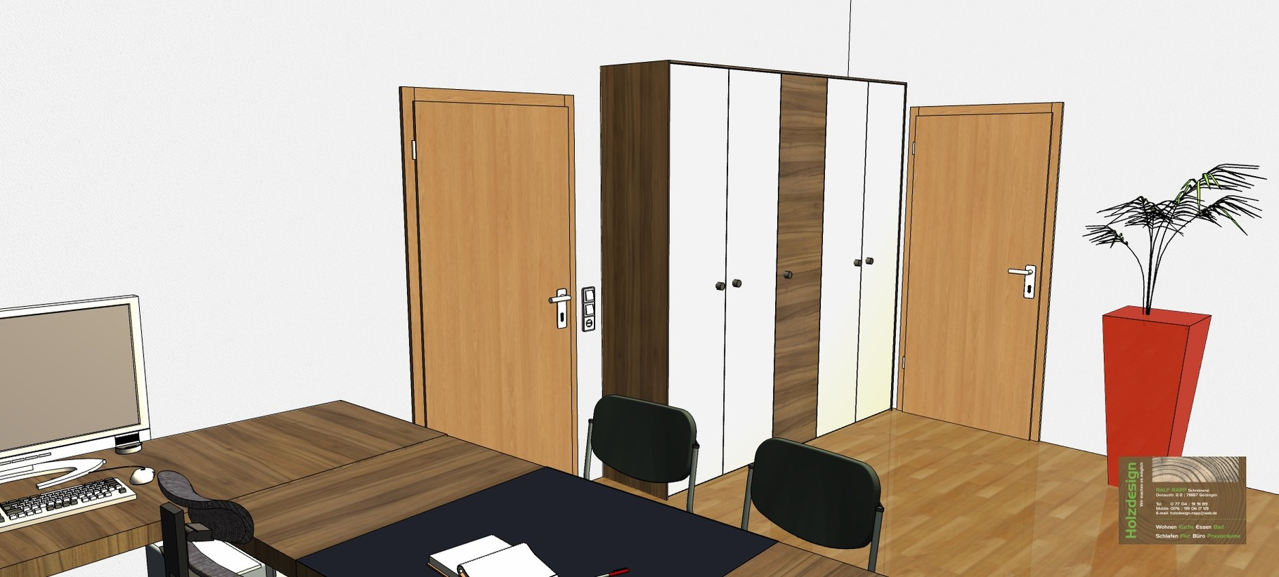 Planung Büroeinrichtung Abbildung Aktenschrank