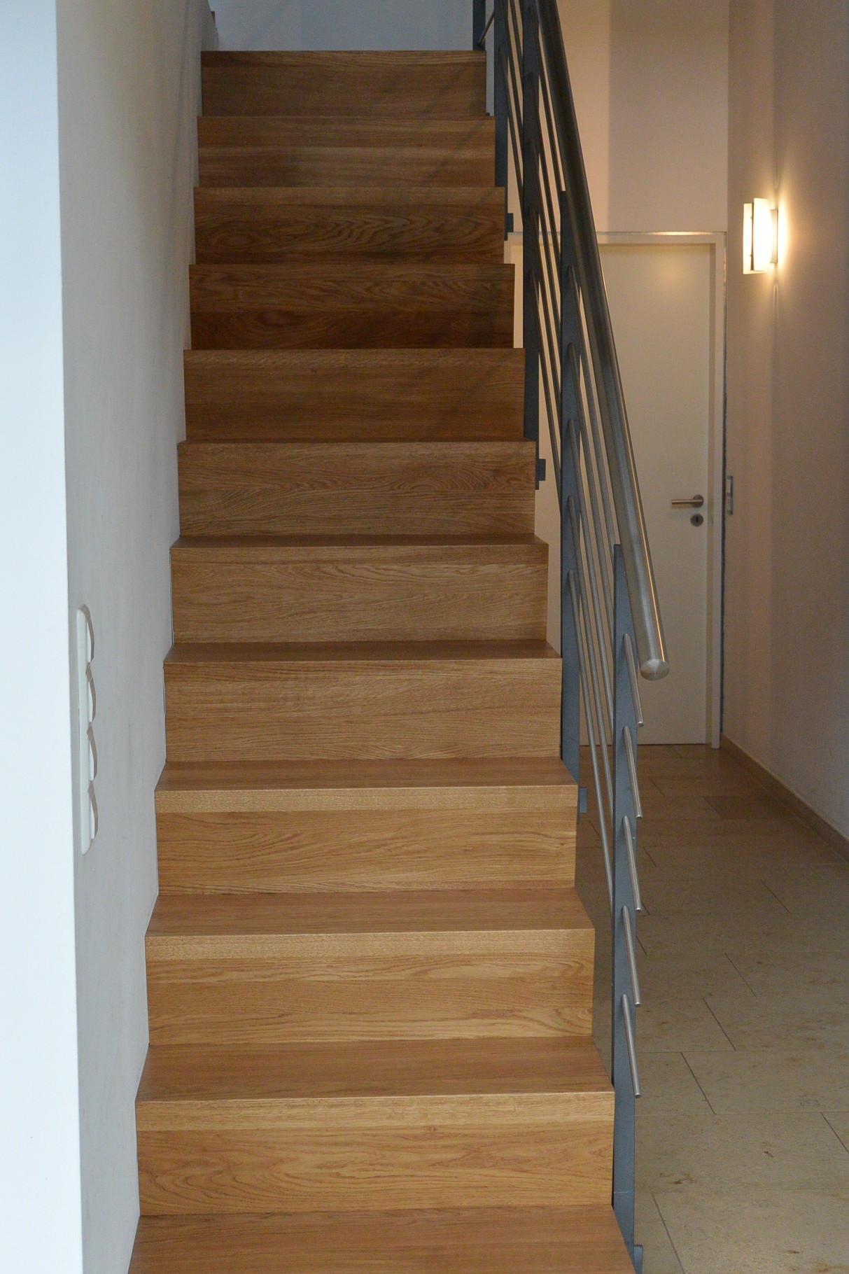 ruhiges Bild der neuen Treppe