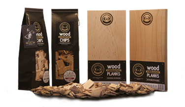 Wood Smoking Chips und Wood Grilling Planks