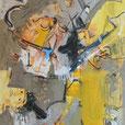 Holterdipolter (Hals über Kopf), 2016, 160x120, Mischtechnik / Leinwand, v