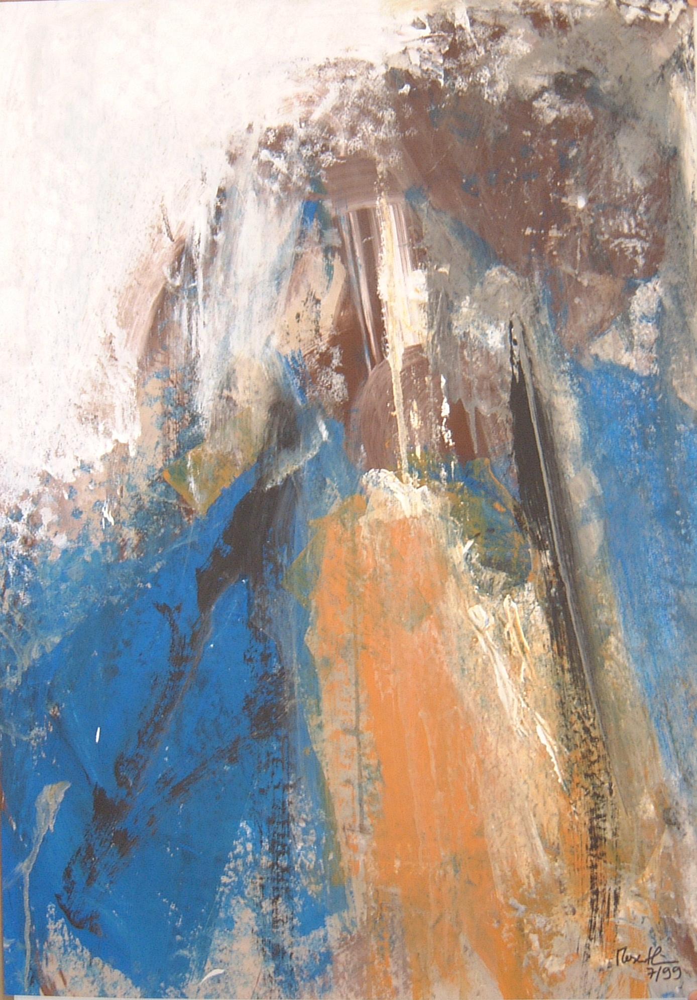 Oranger Fleck, 1999, 70x100cm, Papier