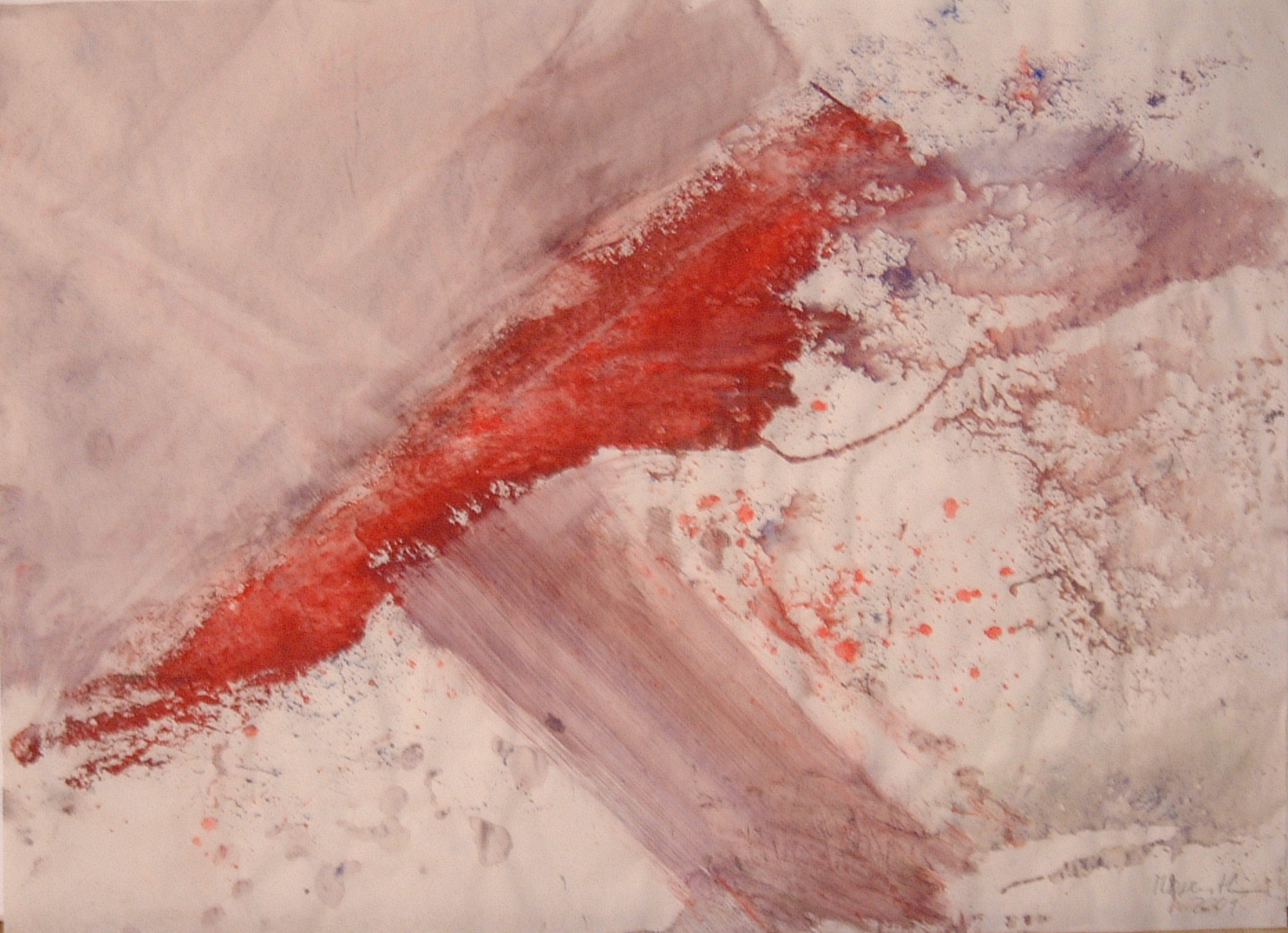 Strahl, 2001, 51x37cm, Papier