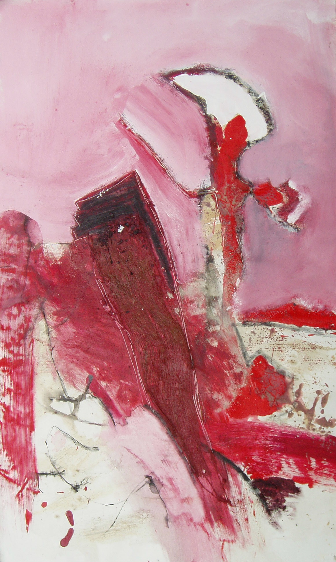 Lady in red, 2008, 60x100cm, Mischtechnik / Leinwand