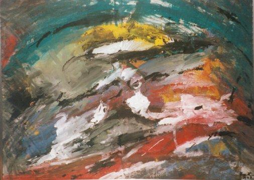 Wilder Galopp, 1997, 78x56cm, Papier