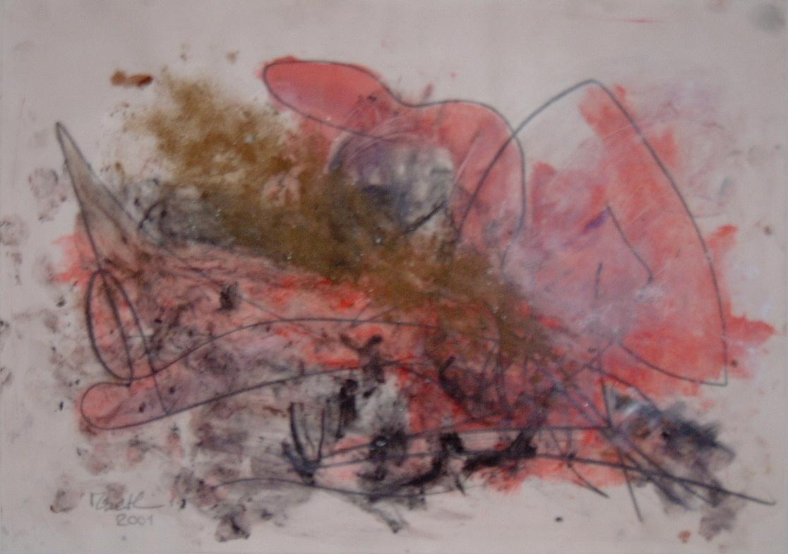 Pink Paula (Schmutzfink), 2001, 59x42cm, Papier