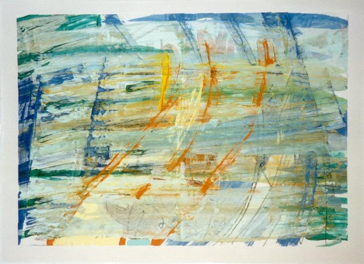 Strukturen II, 1997, 62x42cm, Papier