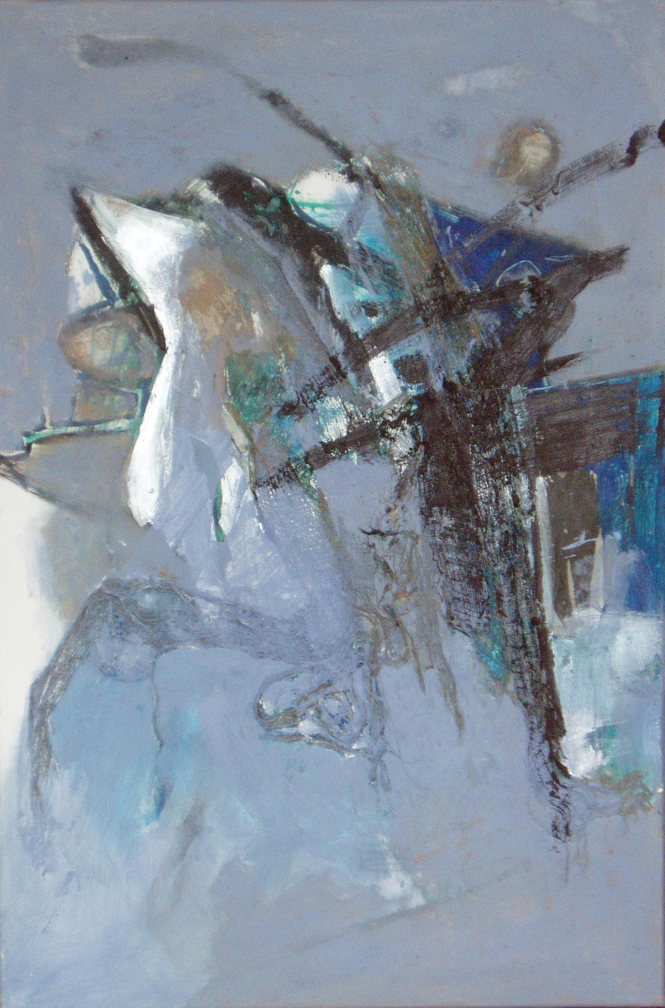 Abhebung, 2006, 80x120cm, Mischtechnik / Leinwand