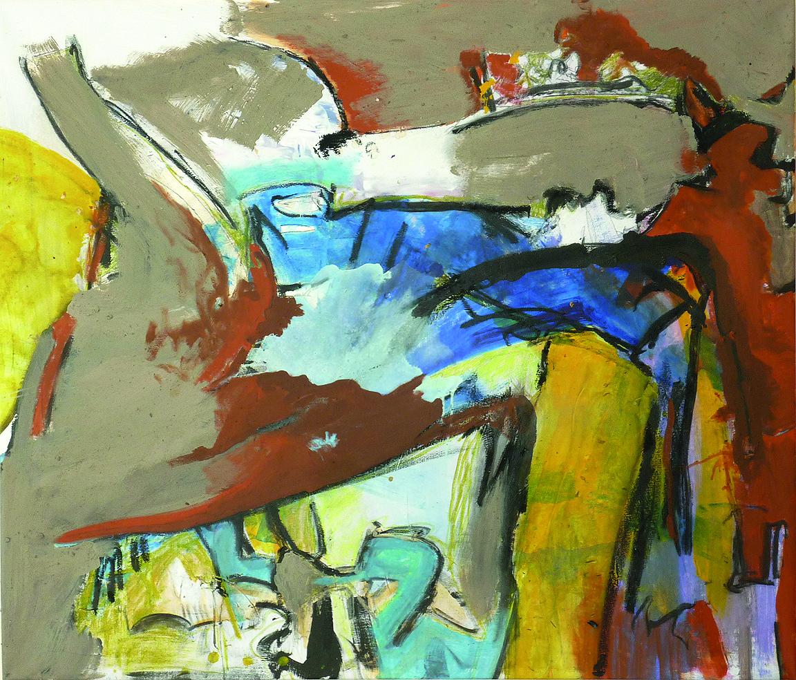 Zweierbeziehung, 2011, 140x120cm, Mischtechnik / Leinwand