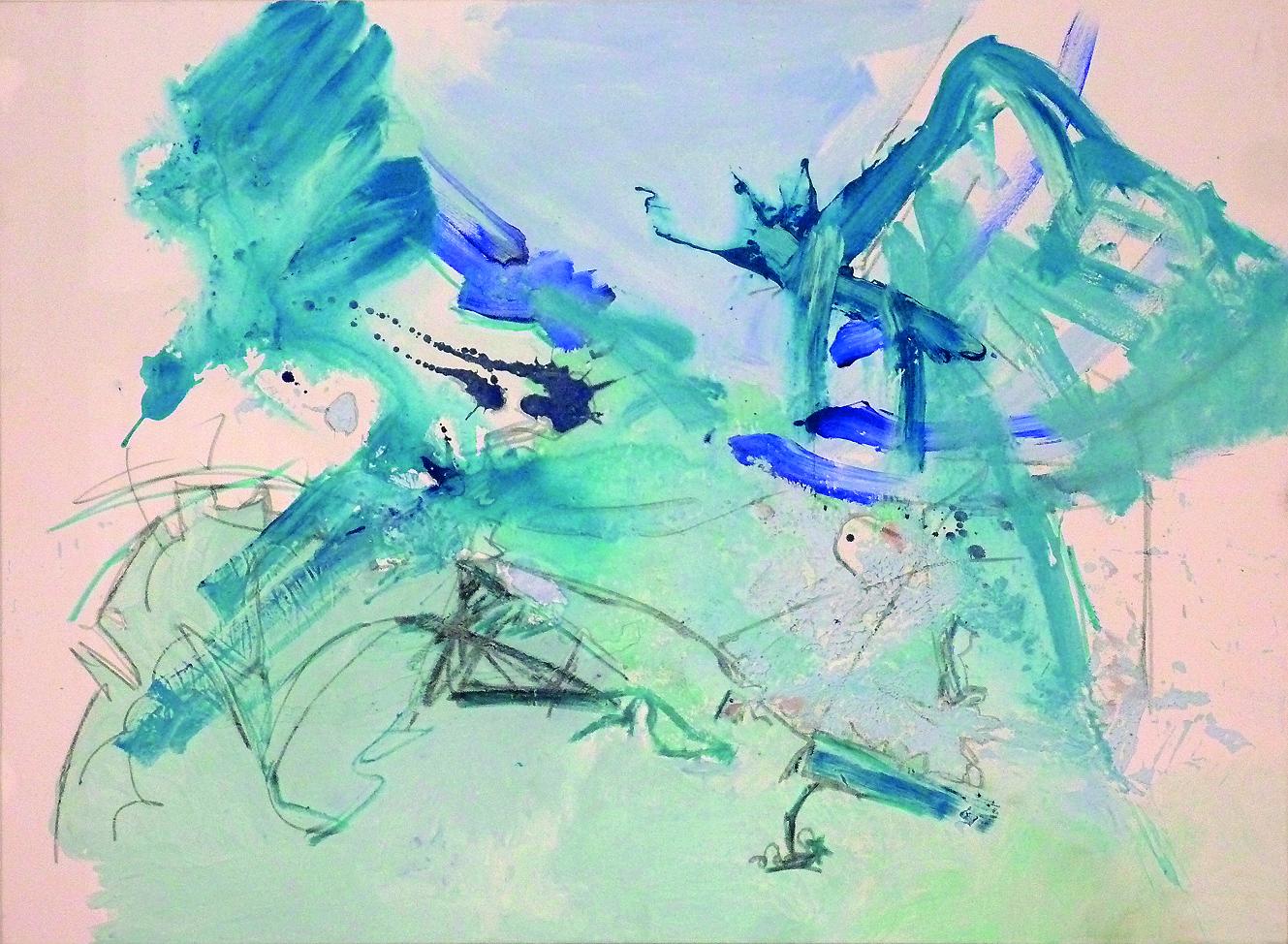 Luft, 2015, 160x120cm, Mischtechnik / Leinwand