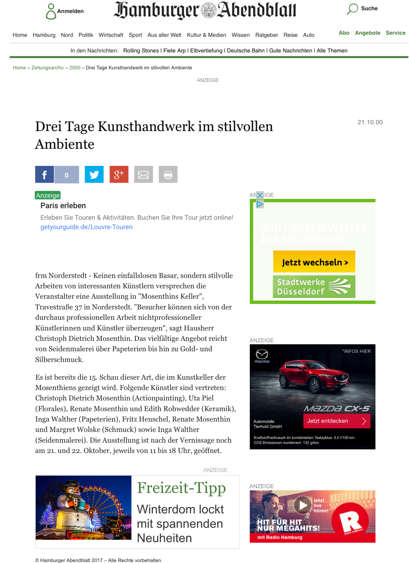2000_10 Hamburger Abendblatt