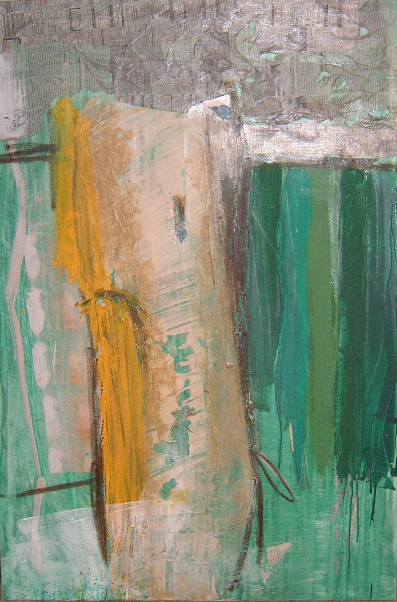Message, 2002, 80x120cm, Mischtechnik / Leinwand