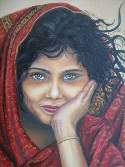 Huile fille indienne