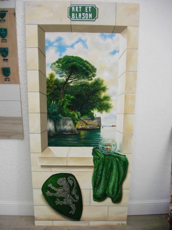 Trompe l'Oeil Art et Blason Lac Italie