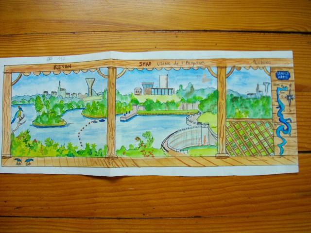 Maquette Décor usine traitement eau potable La retenue