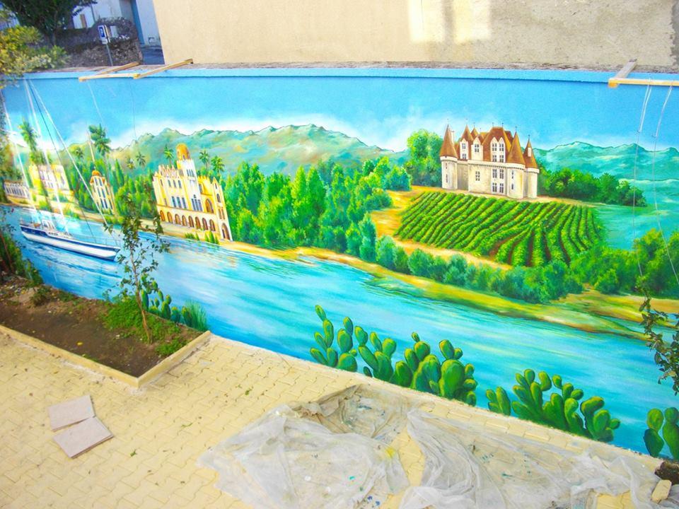 Décor 2.5 x 17m Grèce, Dordogne, Norvège au fil de l'eau