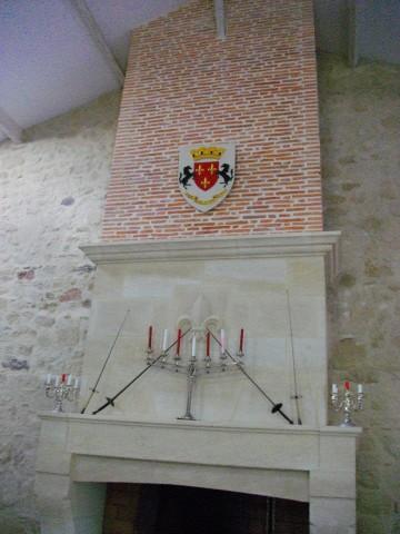 Reproduction Armoiries de famille 52x67cm sur cheminée