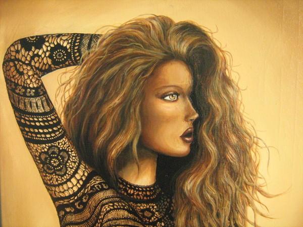 Acrylique Femme dentelle
