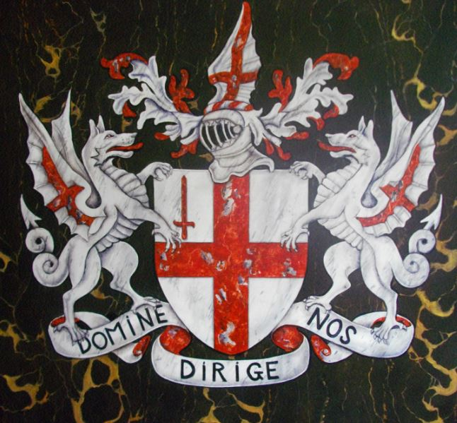 Armoiries Londres en Imitation de Marbres