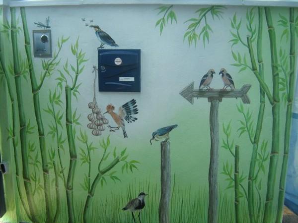 Fresque entrée extérieure Vannes