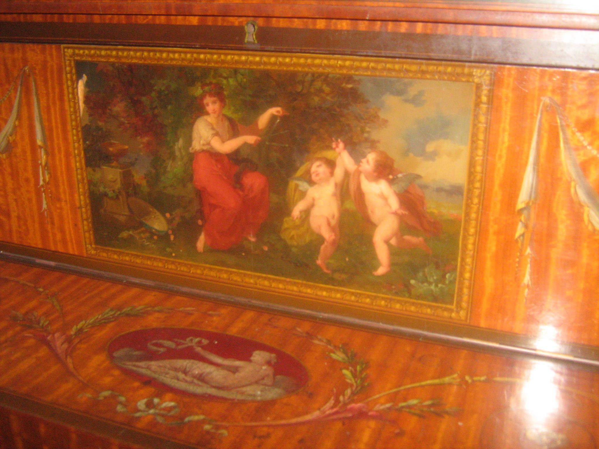 """Restaurations des """"tableaux"""" d'un Clavecin endommagé"""